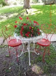 Repainting Metal Patio Furniture - freshly painted ice cream parlor table and chairs outdoor living