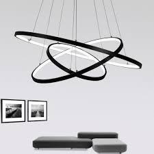 Esszimmer Lampe H Enverstellbar Dimmbar 72w Led Pendelleuchte Esstisch Modern Drei Ring Design Lampe Innen