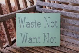 Family Wood Sign Home Decor Wood Sign Waste Not Want Not Kitchen Dining Room Family