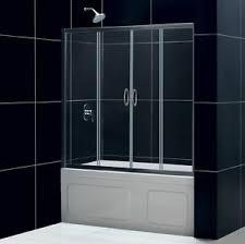 Sliding Tub Shower Doors Dreamline 60 X 58 Butterfly 1 4 Bi Fold Frameless Sliding Tub