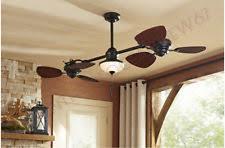dual fan ceiling fan 74 in downrod mount ceiling fan with light kit 6 blade indoor