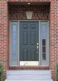 Modern Exterior Doors by Modern Home Main Door Design With Dark Gray Wooden Single Door