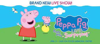 peppa pig live peppa pig u0027s surprise save foods memorial