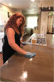 How To Make A Concrete Bench Top Removing Stains U0026 Resealing Concrete Countertops Run To Radiance