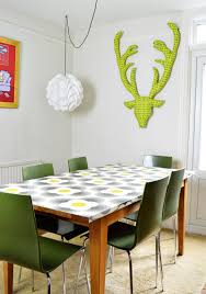 Wallpaper Ideas For Dining Room Brilliant Ideas For Upcycling With Wallpaper Pillar Box Blue