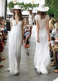 discount boho hippie wedding dresses 2015 sheer vintage lace back