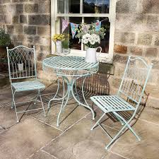 small garden bistro table and chairs bistro tables our pick of the best ideal home outdoor table and
