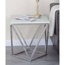 Accent End Table Round White End Tables Accent Tables The Home Depot