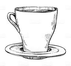coffee cup freehand pencil drawing stock vector art 638079956 istock