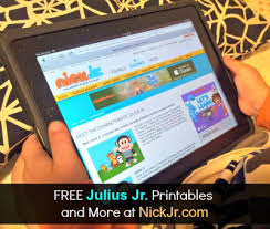 preschoolers love julius jr on nick jr julius jr activity
