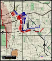 Map Of Atlanta The Battle Of Atlanta Today Part Iii Cheatham U0027s Attack
