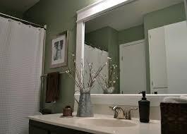 Frames For Mirrors In Bathrooms Bathroom Framed Mirrors Engem Me