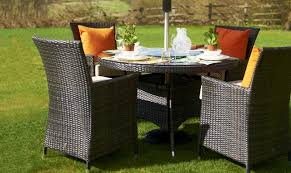 cheap outside table and chairs brown round rattan table chairs fishpools