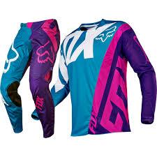 motocross pants and jersey fox racing 2017 mx new 360 creo teal purple jersey pants motocross