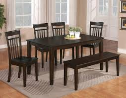 Dark Kitchen Tables by Dining Table With Bench And 4 Chairs Home And Furniture