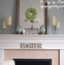 Easter Home Decor by Easter Decorating Ideas Decorate A Simple Easter Mantel A Pop