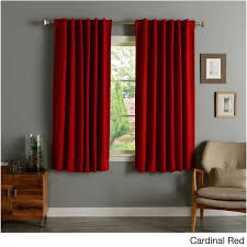 Orange Panel Curtains Aurora Home Solid Insulated Thermal 63 Inch Blackout Curtain Panel