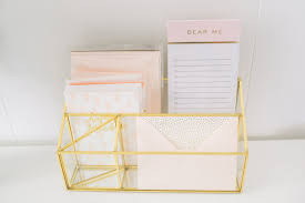 Feminine Desk Accessories by Gold Organizer Best Friends For Frosting