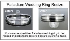 wedding ring repair palladium wedding ring repair palladium ring resized jd