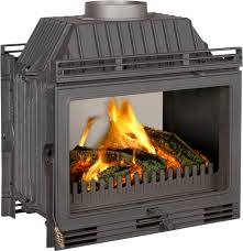 closed wood hearth double sided steel cast iron 2100