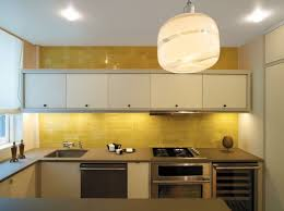 yellow tile kitchen backsplash ideas and white wall kitchen cabinet