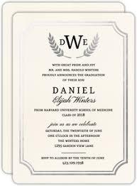 formal high school graduation announcements modern he did it school graduation invitation