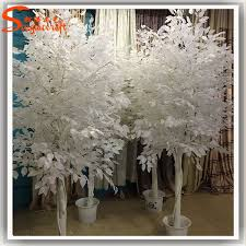 Birch Tree Decor Artificial White Birch Tree Leaves Artificial White Birch Tree