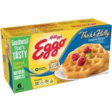 Eggo Toaster Waffles Kellogg U0027s Eggo Thick U0026 Fluffy Original Recipe Waffles 6 Ct Hy