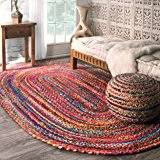 amazon com pouf ottoman round hand knitted cable style cotton