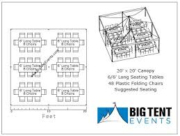 table rental prices big tent events 20x20 canopy rental package tables chairs big