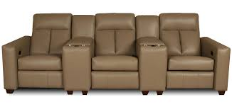 home theater seating sectional leather creations leather home theater