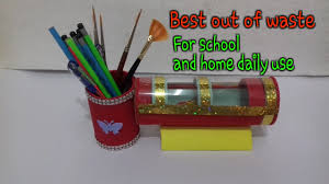 5 mint craft ideas pencil stand at home pencil case with