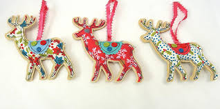 Easter Decorations Gisela Graham by Vintage Fabric Reindeer Christmas Tree Decorations By Gisela Graham
