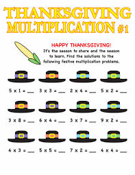 third grade thanksgiving worksheets thanksgiving word problems