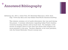 annotated bibliography ppt video online download