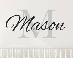 Monogram Wall Decals For Nursery Baby Boy Wall Decal Etsy