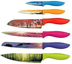 list of kitchen knives chef s vision 6 color landscape kitchen knife set in luxury