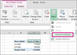 Creating A Pivot Table In Excel Delete A Pivottable Excel