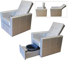 Pedicure Spa Chairs H2o Luxe Lounge Pedicure Spa Chair Carry Basins