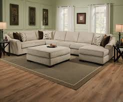 Sectional Sofa With Ottoman Sofas Awesome Grey Microfiber Sectional Wrap Around Sofa Small