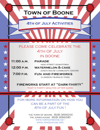 boone july 4th 2015 parade route information parade route