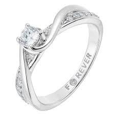 daimond ring 18ct white gold 1 3ct forever diamond ring h samuel