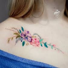 flower collar bone tattoos best tattoo ideas gallery
