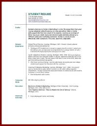 Best Resume For College Student by 9 Best Resume For Students Sendletters Info