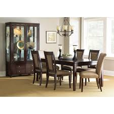 cherry dining room set steve silver wilson 7 piece dining table set merlot cherry