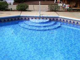 wedding cake pool steps vinyl pools pool liners pool service pool renovations in bucks