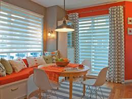 Orange And White Curtains Photo Page Hgtv