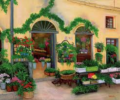 shop italy flower shop artwork by betty lou barry