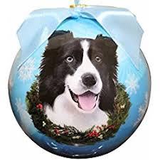 great gifts for border collie ornaments