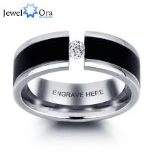 popular cheap gold rings for men buy cheap personalized engrave men s ring fashion cubic zirconia titanium